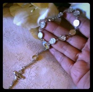 Vintage Jewelry - Vintage St. Anthony Pocket Rosary